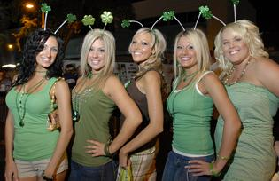 St. Patrick's day party girls