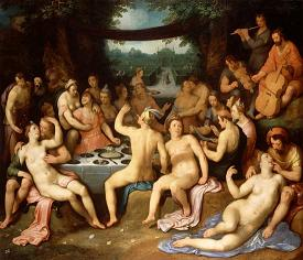 Roman Bacchanalia sex orgy for the wine god Bacchus