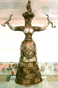Snake Goddess Greece breasts